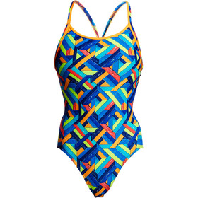 Funkita Diamond Back One Piece Traje de Baño Mujer, boarded up